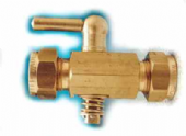 In line brass gas control tap 3/8